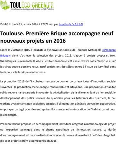 Touléco-green - janvier 2016